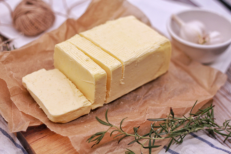 Home made butter is a speciality aboard luxury hotel barge Shannon Princess