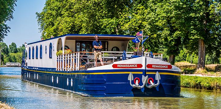 Captain of L'Art de Vivre aboard our flagship, Renaissance in Burgundy
