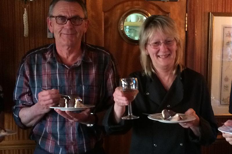 Charlotte and Mick Forster aboard the Scottish Highlander