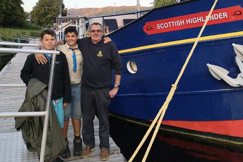 Two boy scouts rescued in Loch Ness by Mick and the crew from the Scottish Highlander