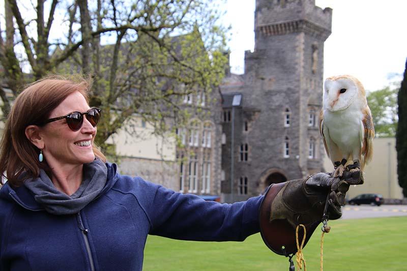 Traditional falconry display on European Waterways' Scottish cruises