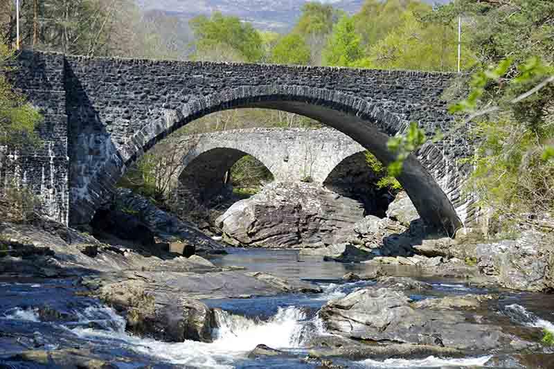 Invermoriston Falls in the Scottish Highlands