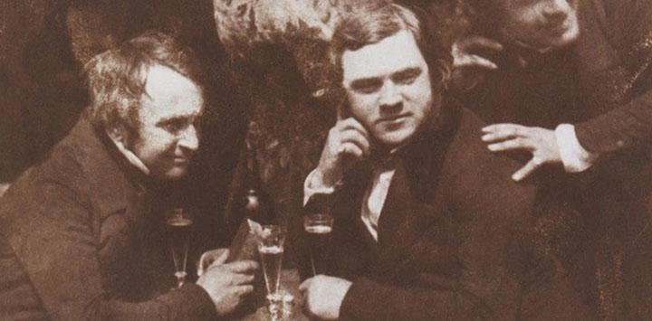 Scottish men in a tavern in Edinburgh