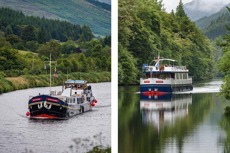 Scottish Highlander and Spirit of Scotland luxury barge cruises