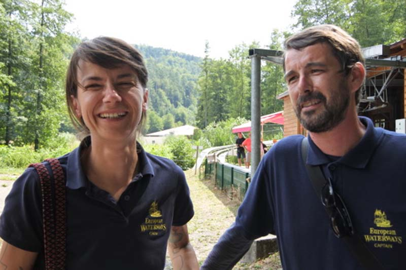 Judith and Florian from luxury hotel barge, Panache