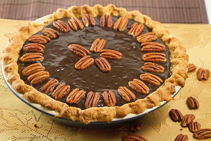 chocolate pecan pie by chef dennis