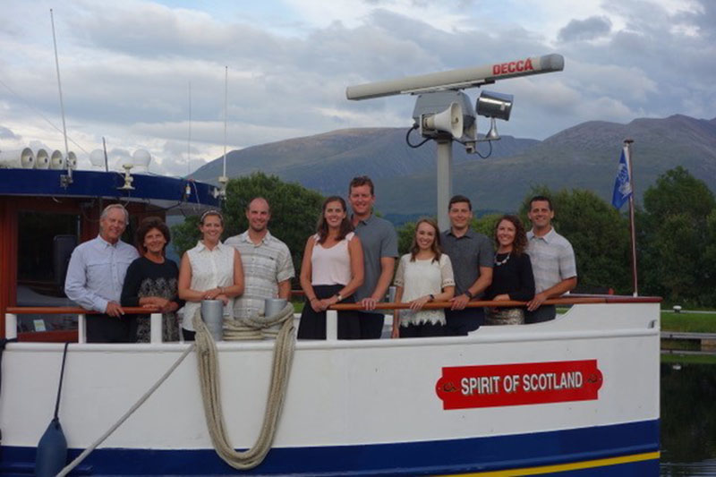Guests aboard the Spirit of Scotland