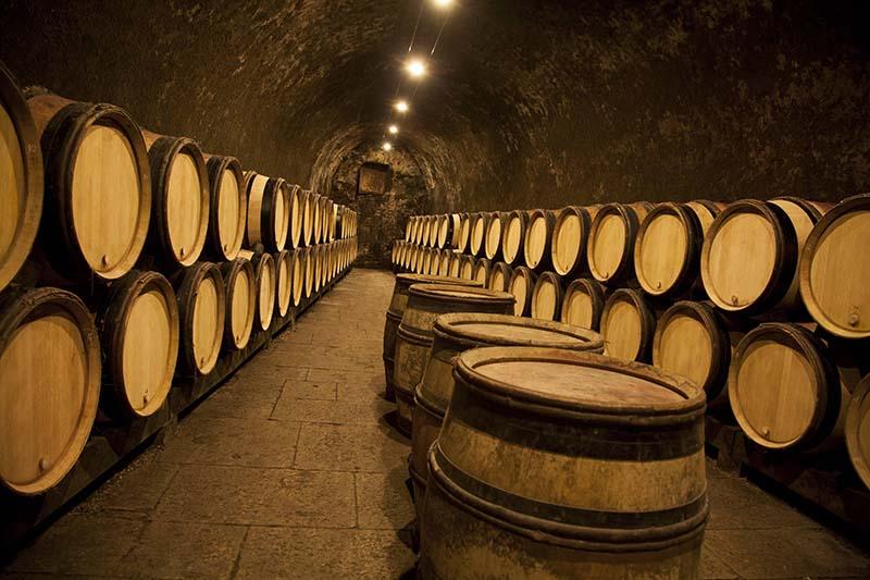 Wine cellars at Domaine Chanson