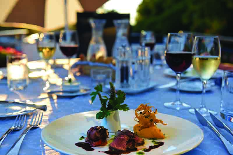 Fine dining and fine wines on our culinary cruises