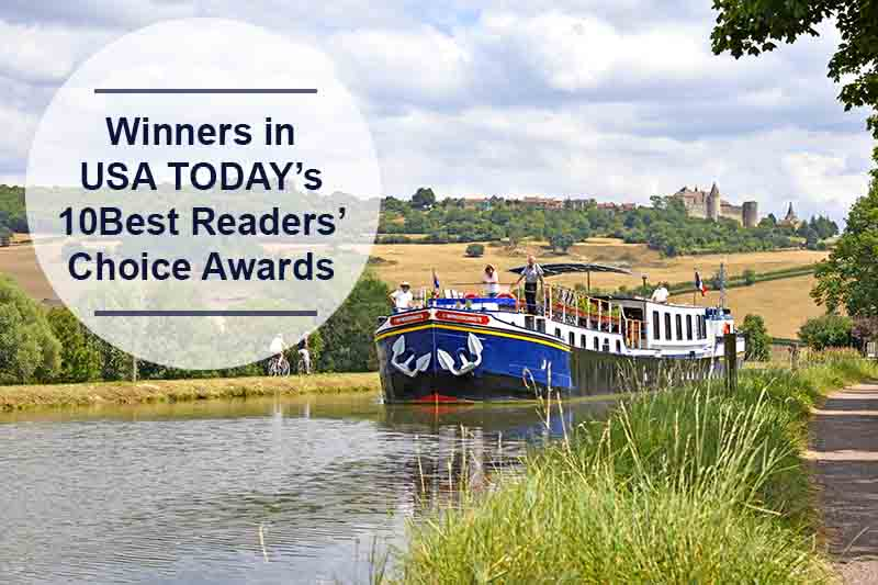 European Waterways voted amongst USA TODAY's 10Best River Cruise Lines