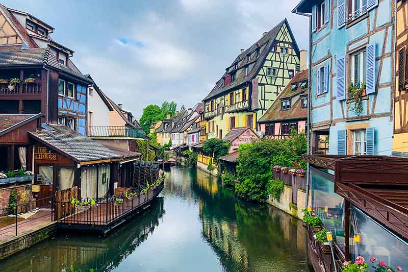 The Colmar Canal, Alsace and Lorraine