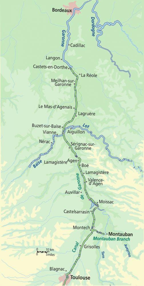 Canal de Garonne Map