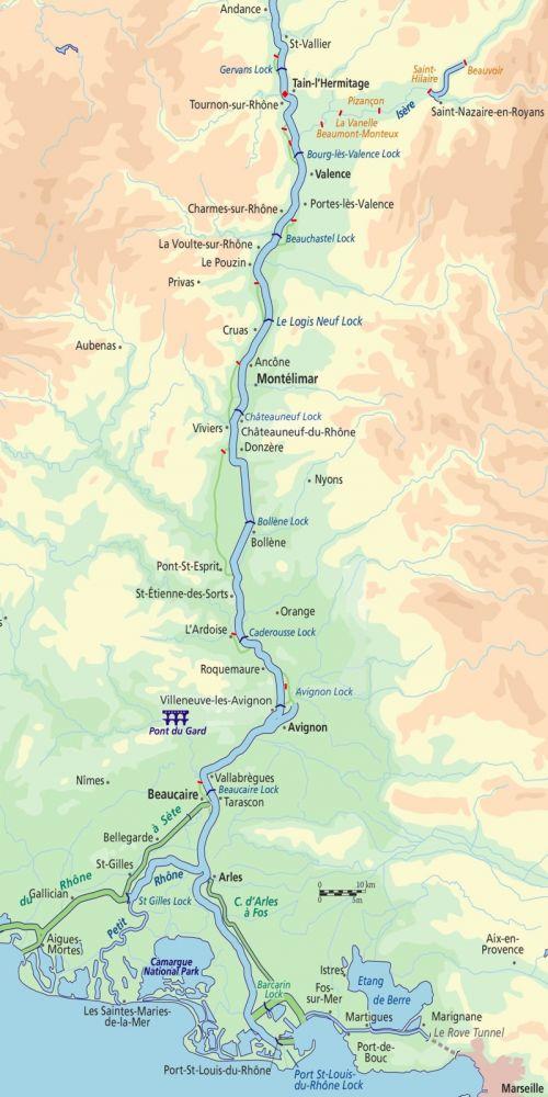 Rhone River Map