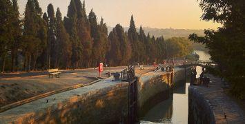 The Canal du Midi's Fonserannes Locks