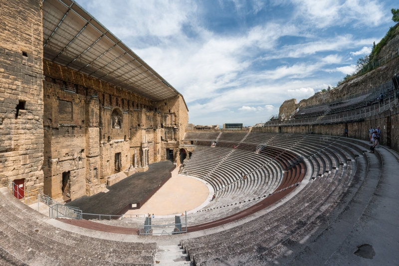 The UNESCO-listed Roman theatre of Orange can still be seen today