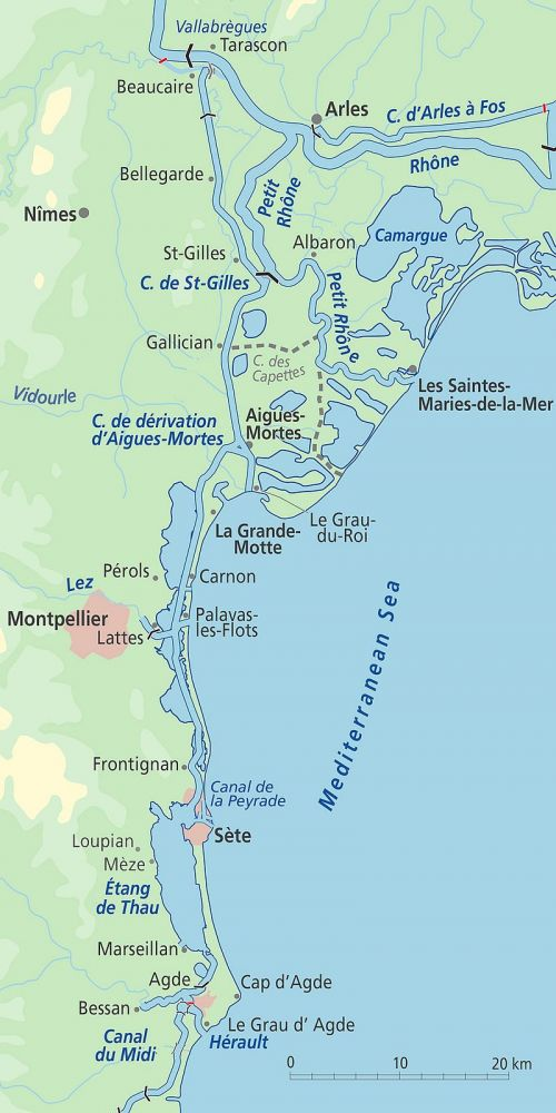 Canal du Rhône à Sète Map