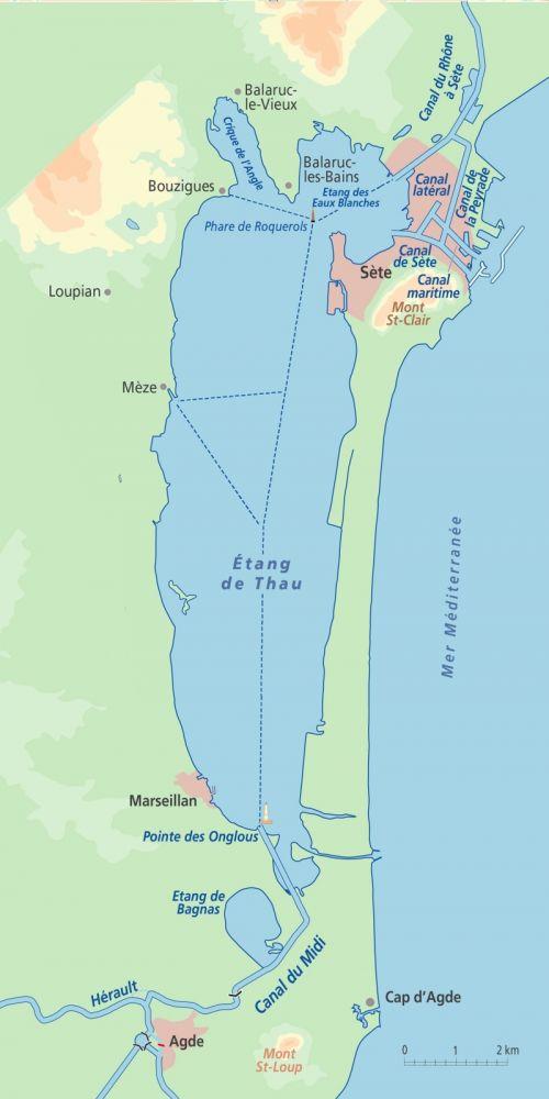 Étang de Thau Map
